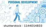 flat design style modern vector ...   Shutterstock .eps vector #1144014833