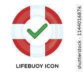 lifebuoy icon vector isolated...   Shutterstock .eps vector #1144016876
