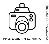 photograph camera icon vector... | Shutterstock .eps vector #1144017863