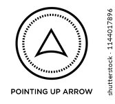 pointing up arrow icon vector...