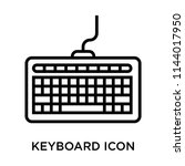 keyboard icon vector isolated... | Shutterstock .eps vector #1144017950