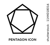 pentagon icon vector isolated... | Shutterstock .eps vector #1144018016
