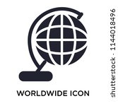 worldwide icon vector isolated... | Shutterstock .eps vector #1144018496