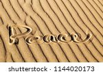 Peace Written In The Sand At...