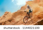 cyclist riding a bicycle....   Shutterstock . vector #1144021100
