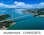 scenic aerial view of... | Shutterstock . vector #1144022873