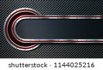 dark metal perforated... | Shutterstock .eps vector #1144025216