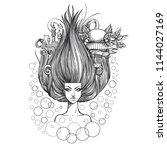 the air symbol. fantastic woman ...   Shutterstock .eps vector #1144027169