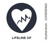 lifeline of heartbeats on a... | Shutterstock .eps vector #1144030463