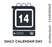 daily calendar day 14 icon... | Shutterstock .eps vector #1144030469