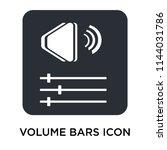 volume bars icon vector...