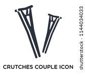 crutches couple icon vector...   Shutterstock .eps vector #1144034033