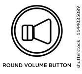 round volume button icon vector ... | Shutterstock .eps vector #1144035089