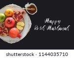 rosh hashanah  jewish new year... | Shutterstock . vector #1144035710