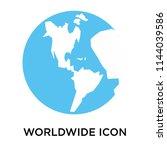 worldwide icon vector isolated... | Shutterstock .eps vector #1144039586