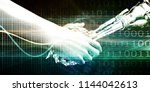 disruptive technology and... | Shutterstock . vector #1144042613