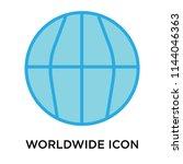 worldwide icon vector isolated... | Shutterstock .eps vector #1144046363