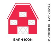 barn icon vector isolated on... | Shutterstock .eps vector #1144046483