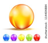 colorful color glass balls...