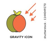 gravity icon vector isolated on ... | Shutterstock .eps vector #1144049270