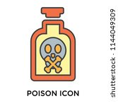 poison icon vector isolated on... | Shutterstock .eps vector #1144049309
