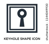 keyhole shape icon vector... | Shutterstock .eps vector #1144049930