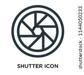 shutter icon vector isolated on ... | Shutterstock .eps vector #1144050233
