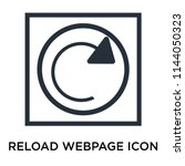 reload webpage icon vector...