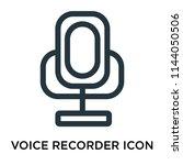voice recorder icon vector... | Shutterstock .eps vector #1144050506