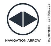 navigation arrow icon vector...