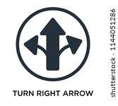 turn right arrow icon vector...   Shutterstock .eps vector #1144051286