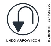 undo arrow icon vector isolated ... | Shutterstock .eps vector #1144051310