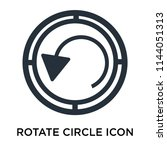 rotate circle icon vector... | Shutterstock .eps vector #1144051313