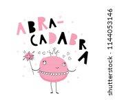 baby print  abracadabra. hand... | Shutterstock .eps vector #1144053146