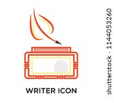 writer icon vector isolated on... | Shutterstock .eps vector #1144053260