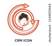crm icon vector isolated on...   Shutterstock .eps vector #1144053443