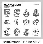 management icon set | Shutterstock .eps vector #1144055819