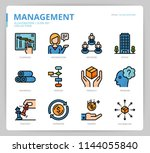 management icon set | Shutterstock .eps vector #1144055840