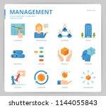 management icon set | Shutterstock .eps vector #1144055843