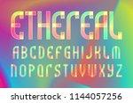 ethereal letters alphabet.... | Shutterstock .eps vector #1144057256