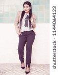 confident intelligent student...   Shutterstock . vector #1144064123
