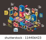 music and web information icons ... | Shutterstock .eps vector #114406423