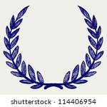 vector laurel wreath. doodle...