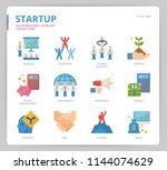 startup icon set | Shutterstock .eps vector #1144074629