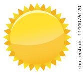 sun icon with jags as vector on ... | Shutterstock .eps vector #1144076120