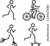 Stick Figures Skating  Running...