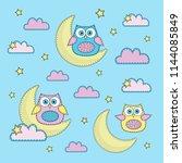cartoon color vector... | Shutterstock .eps vector #1144085849