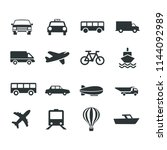 transport icons collection | Shutterstock .eps vector #1144092989