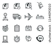 logistic and delivery icons | Shutterstock .eps vector #1144093010