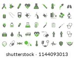 medical healthcare icons... | Shutterstock .eps vector #1144093013
